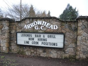Arrowhead golf